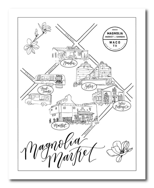 Magnolia Market Illustrated Map