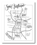 San Antonio Urban Illustrated Map
