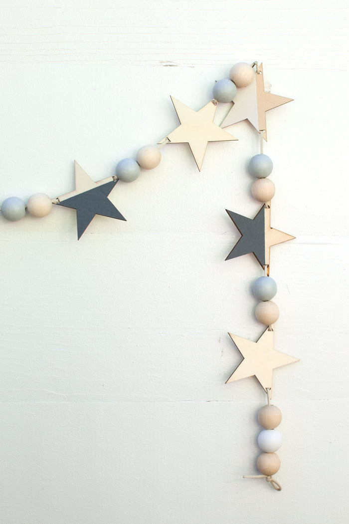 Star Garland - Gray