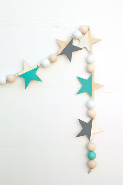 Star Garland - Teal