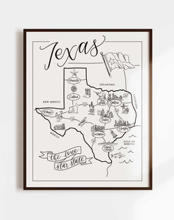Texas Urban Illustrated Map