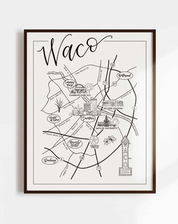 Waco Illustrated Map