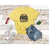 Good Mom Hood Playlist Tee