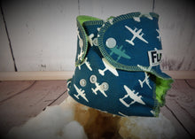Vintage Navy Planes, Newborn All-in-two Cloth Diaper