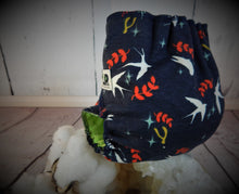 Swallows at Dusk, Newborn All-in-two Cloth Diaper