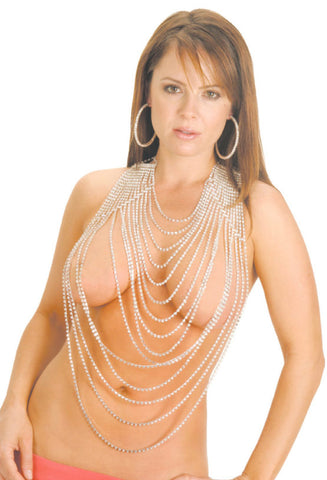 Drape Rhinestone Body Jewelry