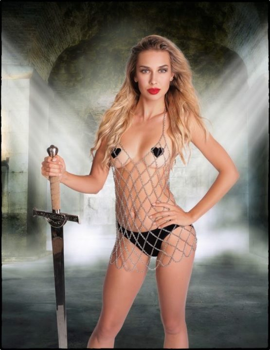Chainmail Drape Top ONE SIZE