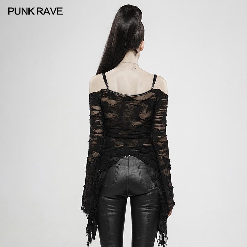 Gothic Lace Up Long Sleeve Shirt