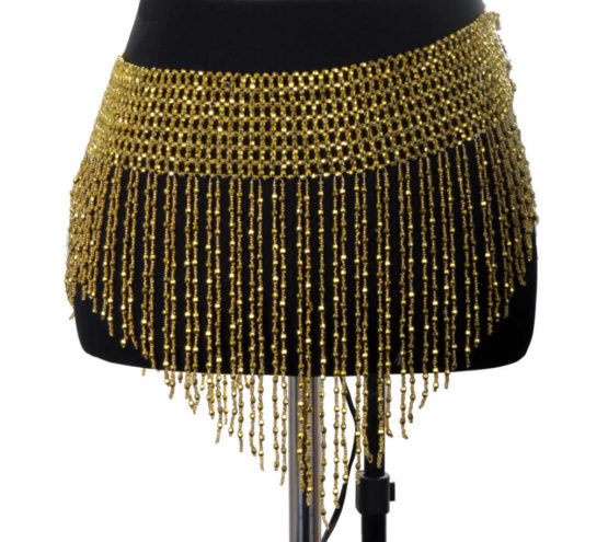 Stretchy Beaded Fringe Belt