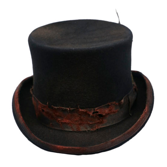 Wool Top Hat Distressed