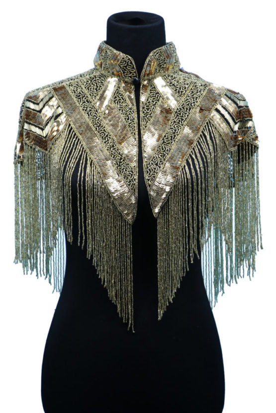 Gold Beaded Capelet