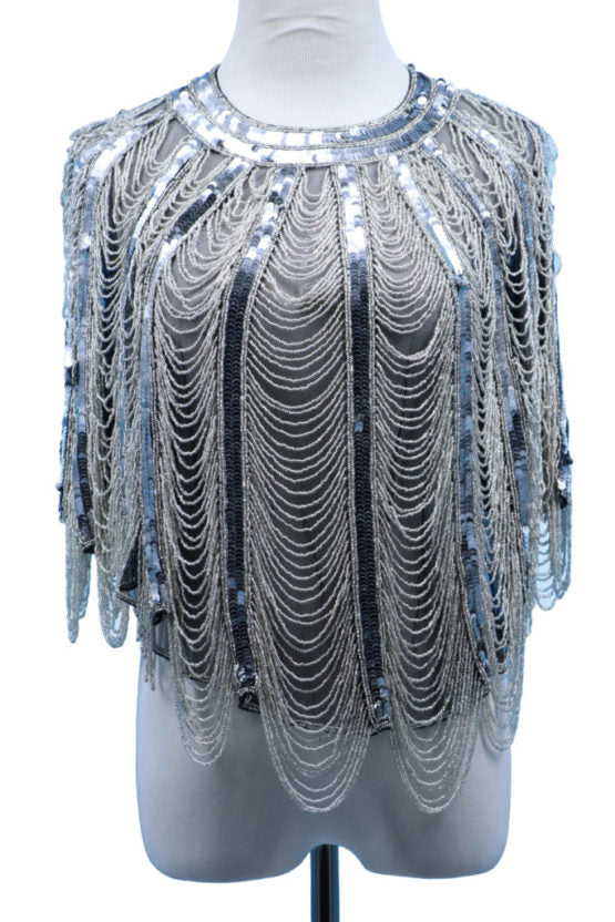 Silver Beaded Capelet