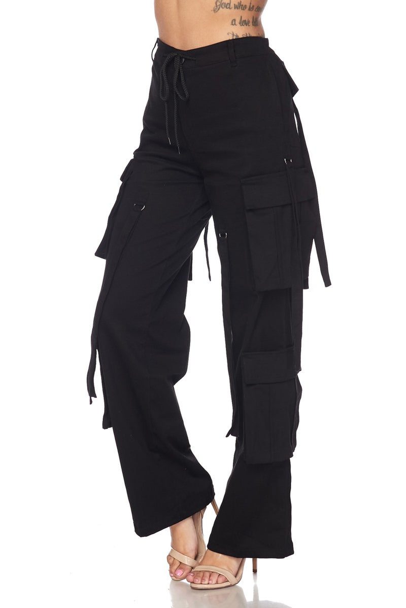 Black Thick Stretch Pant