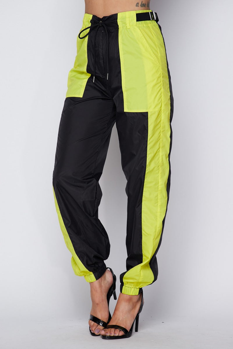 Black and Yellow Track Pant