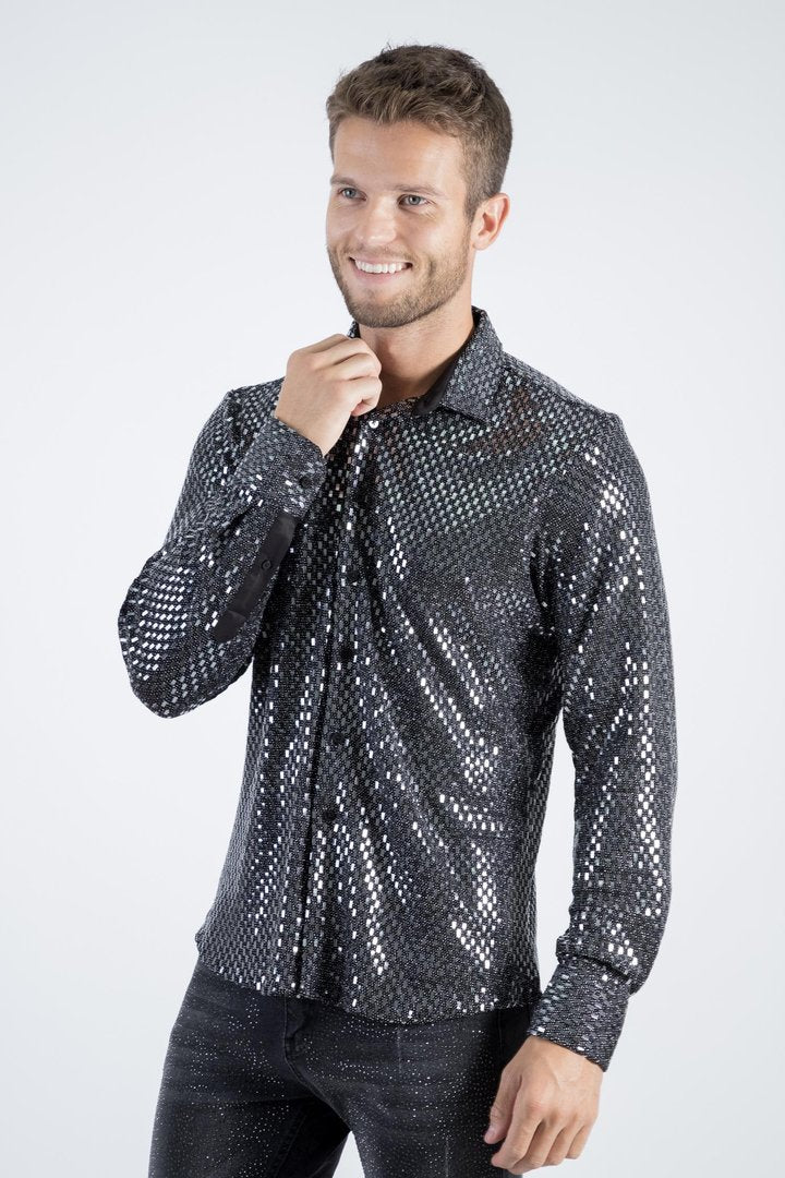 Disco King Long sleeve Button Up