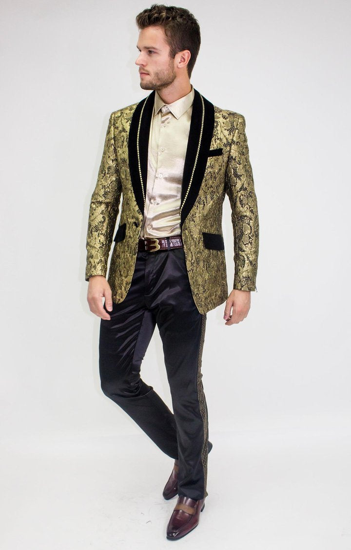 Gold Weave Dress Coat