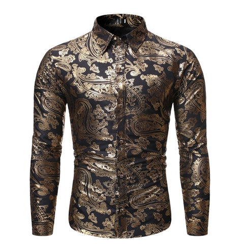 Gold Paisley Shirt