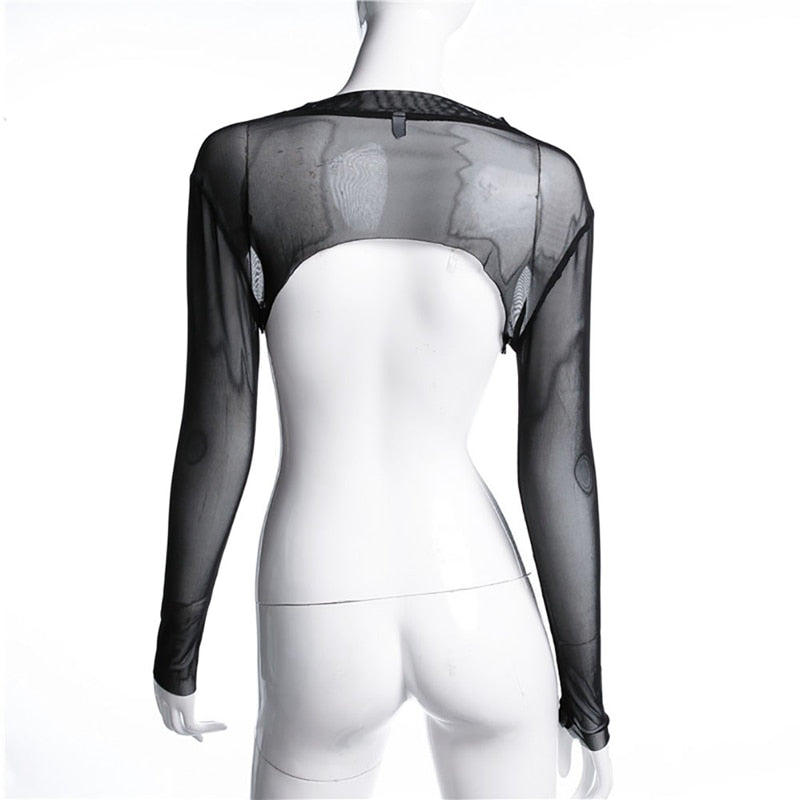 Black Mesh Long Slv Arm Cover