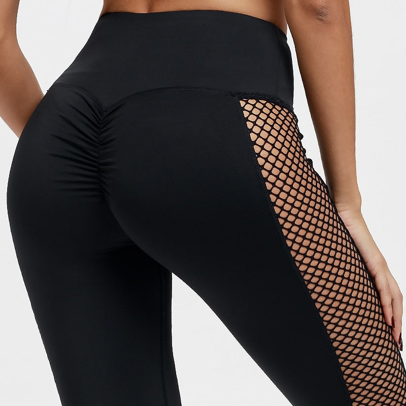 Fishnet Stripe Legging BLK