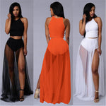 Mesh Slit Skirt ONE SIZE