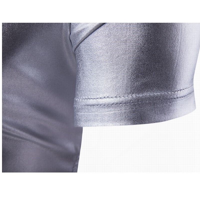 Mens Metallic V-Neck
