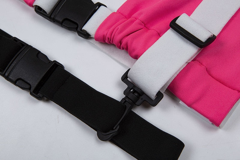 Pink And Black Buckle Top
