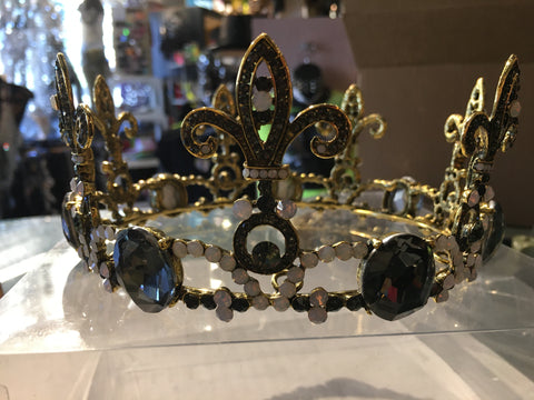 Fleur-De-Lis Jeweled Crown