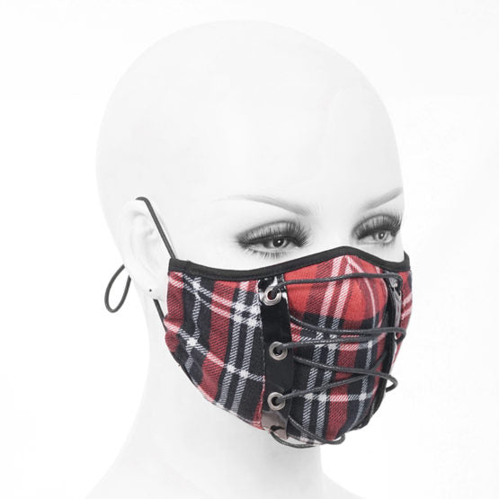 Face Mask Red Plaid