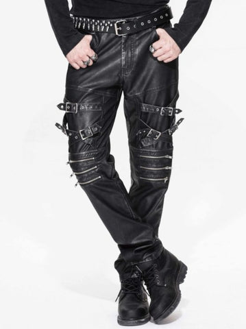 ZIPPERED BUCK PUNK PANTS