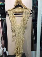 Romper Antique Gold Lace