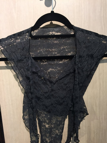 Romper Dark Grey Lace