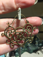 Brass Lotus Earrings