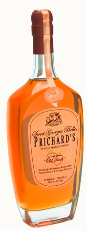 Prichard's Sweet Georgia Bell Peach Mango Rum label