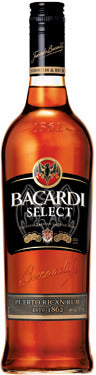Bacardi Select Rum 1.75L label