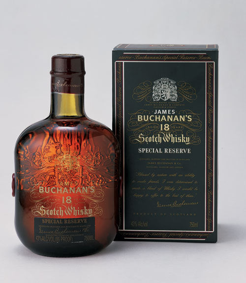 Buchanan's Special Reserve Scotch Whisky 18 year old label