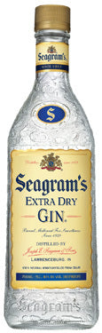 Seagram's Extra Dry Gin 1.75L label