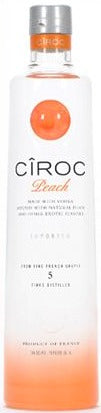 Ciroc Peach Vodka label
