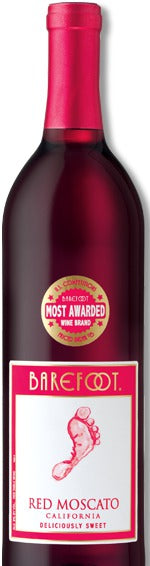 Barefoot Red Moscato 1.5L label
