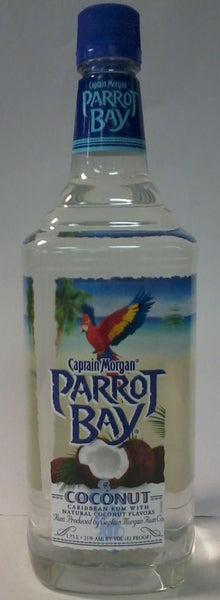 Captain Morgan Parrot Bay Coconut Rum 1.75L label