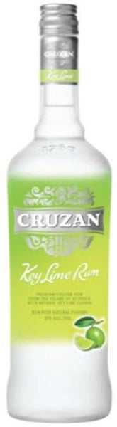 Cruzan Key Lime Rum label