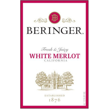 Beringer White Merlot 1.5L label