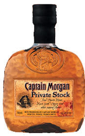 Captain Morgan Private Stock Rum label