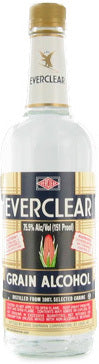Everclear Grain Alcohol 151 Proof label