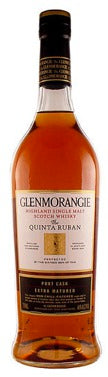 Glenmorangie The Quinta Ruban Port Cask Extra Matured 12 year old label