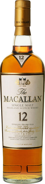 Macallan Single Highland Malt Scotch Whisky 12 year old label