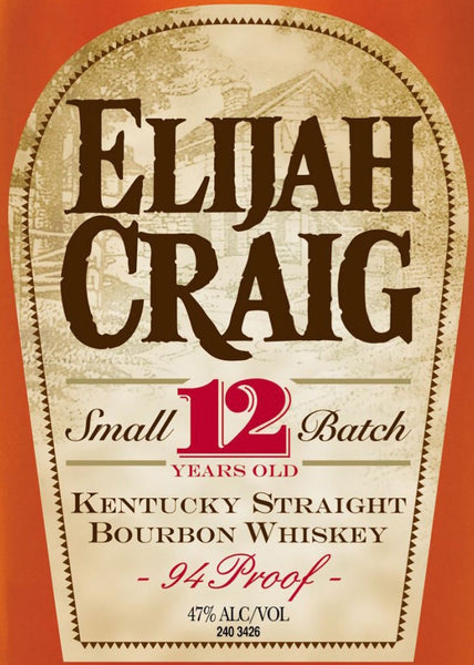Elijah Craig Small Batch Kentucky Straight Bourbon Whiskey 12 year old 1.75L label