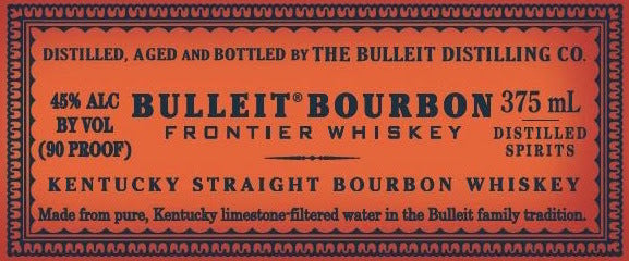 Bulleit Frontier Bourbon Whiskey label