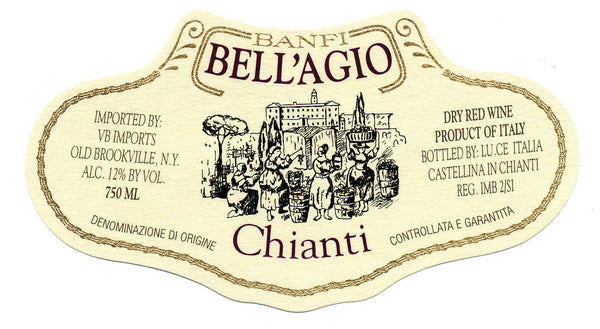 Bell'Agio Basket Chianti label