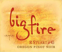 Big Fire Pinot Noir label