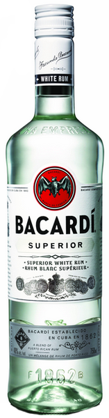 Bacardi Superior Light Rum 1.75L label